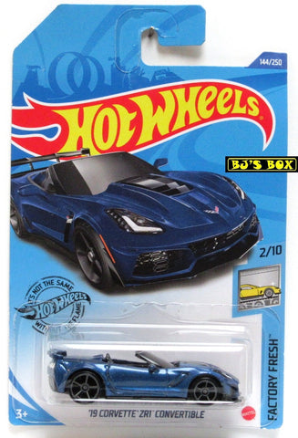 2020 Hot Wheels '19 CORVETTE ZR1 CONVERTIBLE #144/250 Blue 2/10 Factory Fresh New