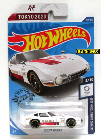 2020 Hot Wheels TOYOTA 2000 GT #184/250 White Olympic Games Tokyo 2020 8/10 New