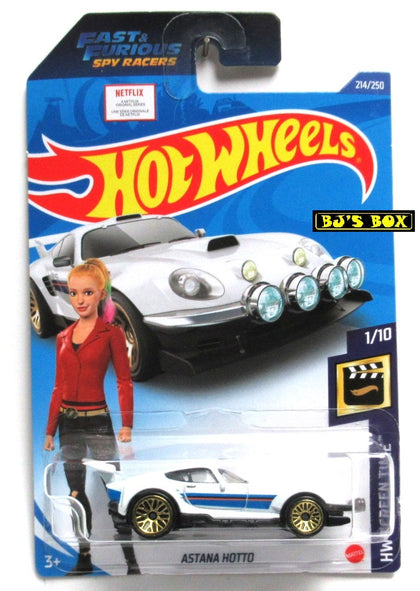2020 Hot Wheels ASTANA HOTTO #214/250 HW Screen Time #1/10 White Fast & Furious New