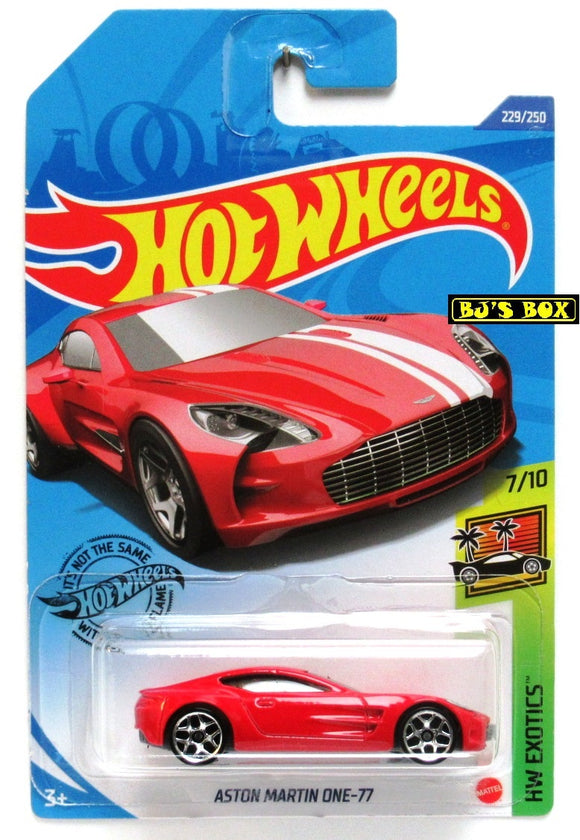 2020 Hot Wheels ASTON MARTIN ONE-77 #229/250 Factory Fresh #7/10 Red New