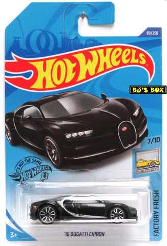 2020 Hot Wheels '16 BUGATTI CHIRON 7/10 Factory Fresh Series Black 89/250 New