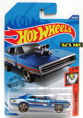 2020 Hot Wheels '70 DODGE CHARGER RT #249/250 Blue Muscle Mania 5/10 New