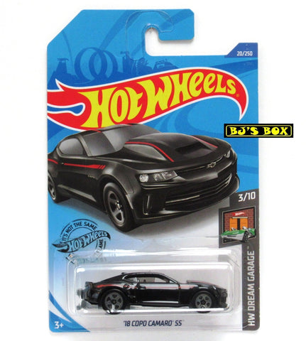 2020 Hot Wheels '18 COPO CAMARO SS HW Dream Garage 3/10 Black Chevy 20/250 New