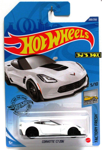 2020 Hot Wheels CORVETTE C7 ZO6 Factory Fresh 5/10 White 200/250 New