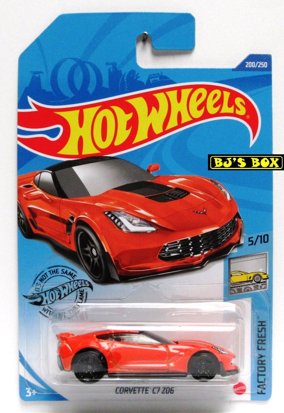 2020 Hot Wheels CORVETTE C7 ZO6 Factory Fresh 5/10 Orange #200/250 New