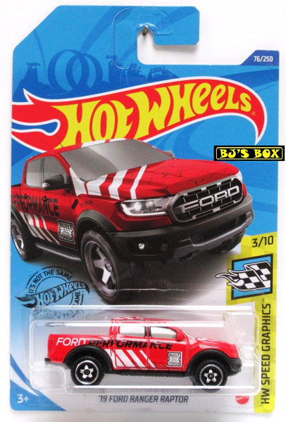 2020 Hot Wheels '19 FORD RANGER RAPTOR #76/250 Red 4x4 Pickup HW Speed Graphics 3/10 New