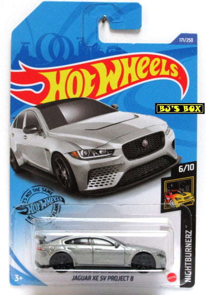 2020 Hot Wheels JAGUAR XE SV PROJECT 8 #171/250 Silver Nightburnerz 6/10 New