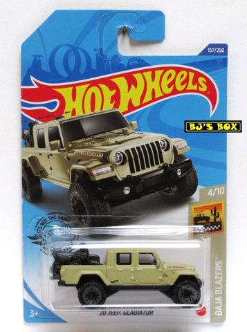 2020 Hot Wheels '20 JEEP GLADIATOR #157/250 Tan Rubicon 4x4 4/10 Baja Blazers New