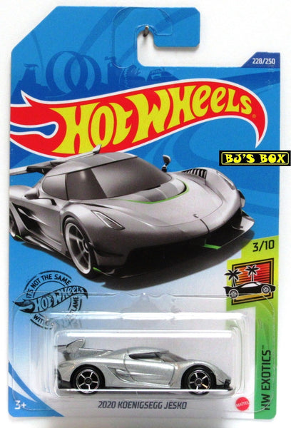 2020 Hot Wheels 2020 KOENIGSEGG JESKO #228/250 HW Exotics 3/10 Silver, Sports Car New