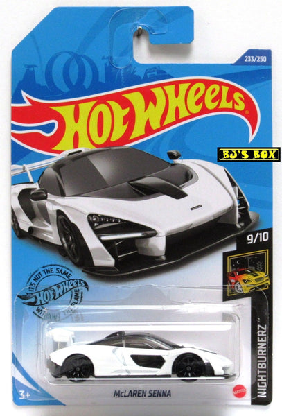 2020 Hot Wheels McLAREN SENNA #233/250 Nightburnerz 9/10 Black New