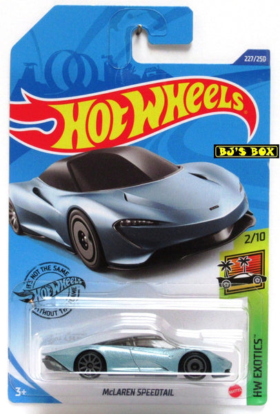 2020 Hot Wheels McLAREN SPEEDTAIL #227/250 HW Exotics 2/10 Blue, Sports Car New