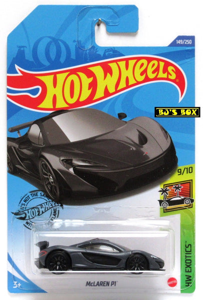 2020 Hot Wheels McLAREN P1 #149/250 HW Exotics 9/10 Matte Black Super Car New