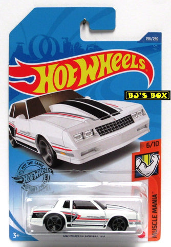 2020 Hot Wheels '86 MONTE CARLO SS #196/250 White Muscle Mania 6/10 New