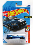 2020 Hot Wheels 2020 FORD MUSTANG SHELBY GT500 #248/250 Blue White Muscle Mania 1/10 New