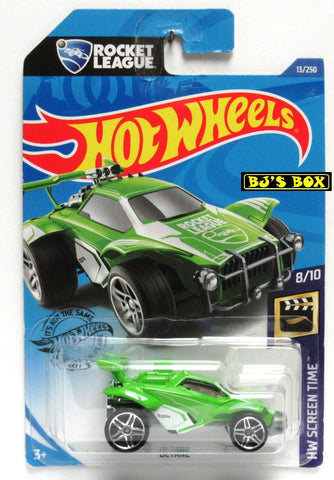 2020 Hot Wheels OCTANE #13/250 Green Rocket League HW Screen Time 8/10 New