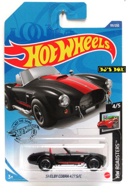 2020 Hot Wheels SHELBY COBRA 427 S/C #191/250 Black, Red, HW Roadsters 4/5 New