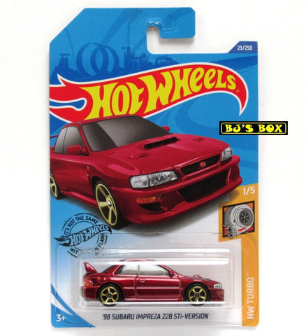 Hot Wheels 2020 '98 SUBARU IMPREZA 22B STi-VERSION 1/5 HW Turbo Red 23/250 New