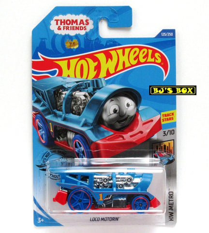 Hot Wheels 2020 Thomas & Friends LOCO MOTORIN Track Stars 3/10 HW Metro #125 New