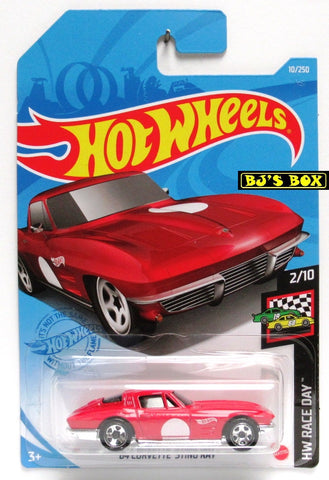 2021 Hot Wheels '64 CORVETTE STING RAY #10/250 Red, Sports Car 2/10 HW Race Day New