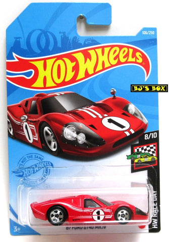 Hot Wheels '67 FORD GT40 MK.IV #106/250 Red #8/10 HW Race Day New