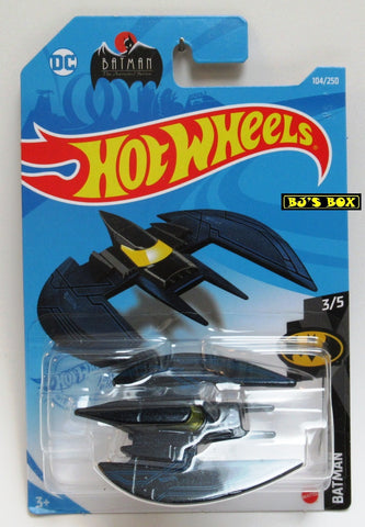 2021 Hot Wheels BATPLANE #104/250 Black #3/5 Batman DC Comics New
