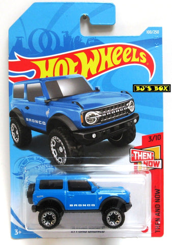 2021 Hot Wheels '21 FORD BRONCO #100/250 Blue #3/10 Then & Now Series New