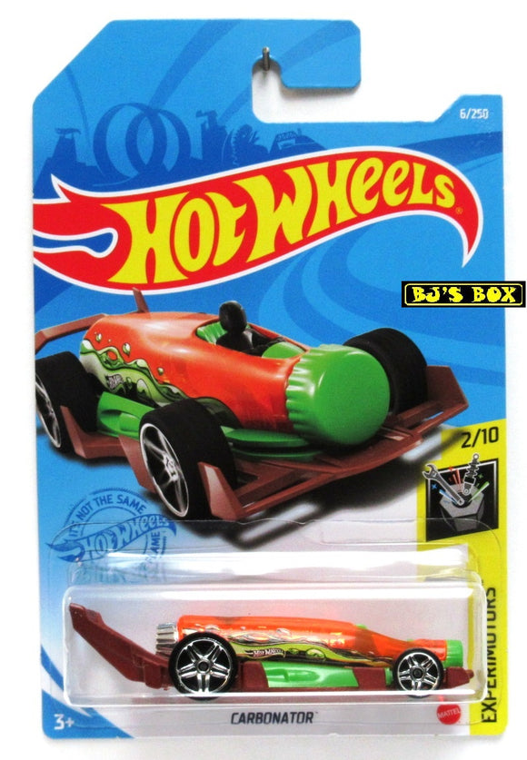 2021 Hot Wheels CARBONATOR #6/250 Green Vehicle 2/10 HW Experimotors New