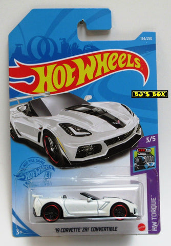 2021 Hot Wheels '19 CORVETTE ZR1 CONVERTIBLE #134/250 White #3/5 HW Torque New