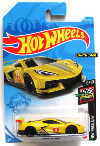2021 Hot Wheels CORVETTE C8.R #105/250 Yellow #6/10 HW Race Day New