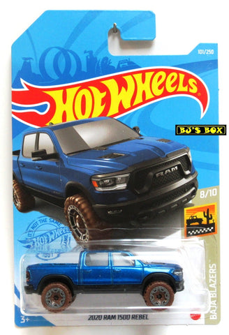 2021 Hot Wheels 2020 RAM 1500 REBEL #101/250 Blue #8/10 Baja Blazers New