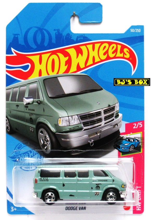 2021 Hot Wheels DODGE VAN #50/250 Green Drifter Moon Eyes 2/5 HW Drift New