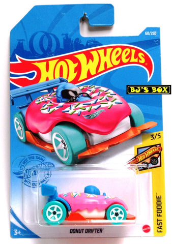 2021 Hot Wheels DONUT DRIFTER #60/250 Pink & Sprinkles #3/5 Fast Foodie New