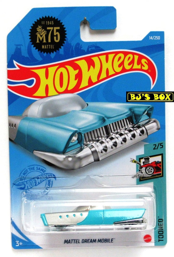 2021 Hot Wheels MATTEL DREAM MOBILE #14/250 M75 Blue Concept Car #2/5 Tooned New
