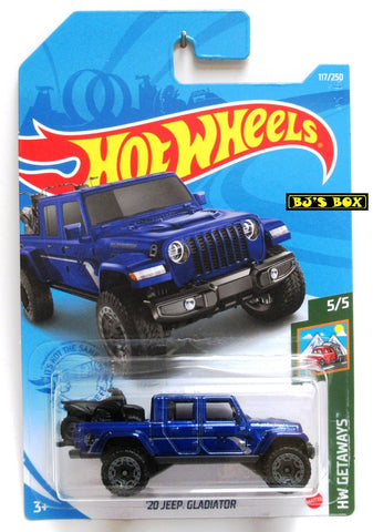 2021 Hot Wheels '20 JEEP GLADIATOR #117/250 Blue 4x4 Pickup #5/5 HW Getaways New