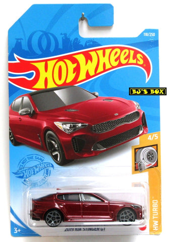 2021 Hot Wheels 2019 KIA STINGER GT #118/250 Red #4/5 HW Turbo New