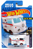 2021 Hot Wheels KOOL KOMBI #38/250 Hello Kitty VW Van 3/10 HW Screen Time New
