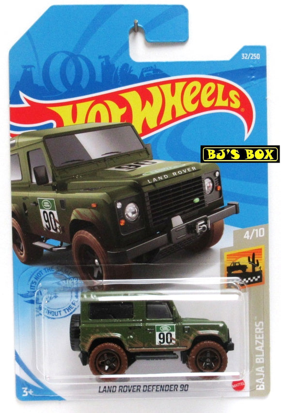 2021 Hot Wheels LAND ROVER DEFENDER 90 #32/250 Green Classic 4x4 #4/10 Baja Blazers New