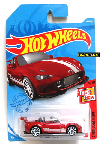 2021 Hot Wheels '15 MAZDA MX-5 MIATA #129/250 Red #4/10 Then & Now Series New