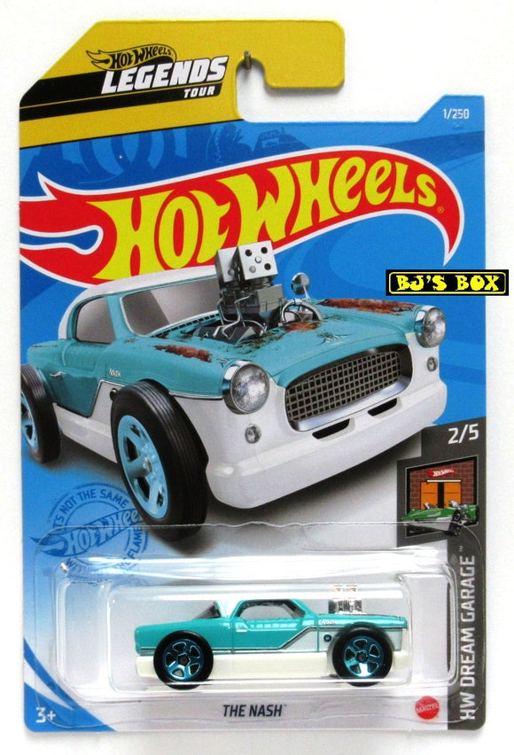 2021 Hot Wheels THE NASH #1/250 Turquoise White 2/5 HW Dream Garage Legends New