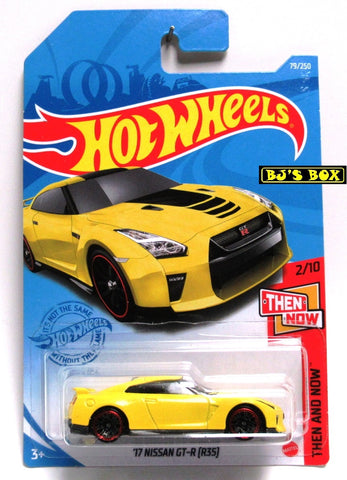2021 Hot Wheels '17 NISSAN GT-R (R35) #79/250 Yellow #2/10 Then & Now Series New