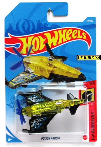 2021 Hot Wheels POISON ARROW #30/250 Stunt Plane 1/5 HW Daredevils Airplane New