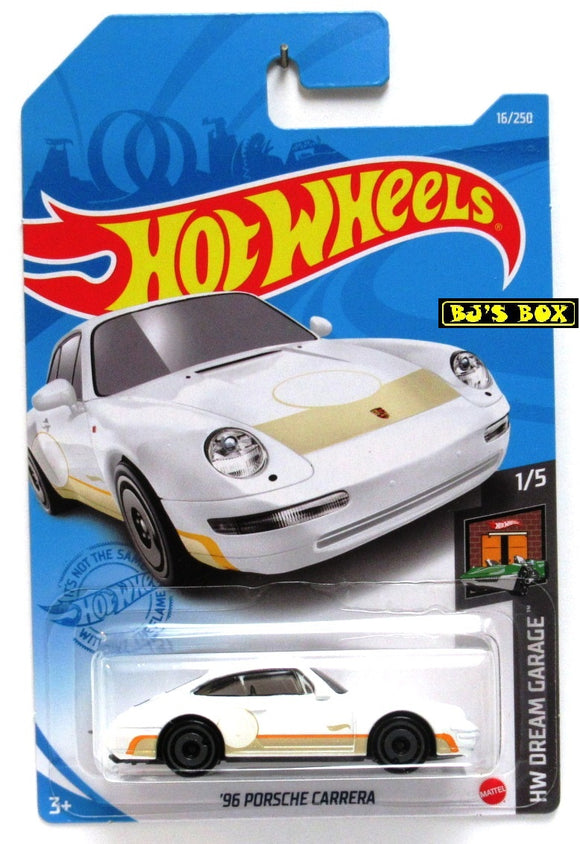 2021 Hot Wheels '96 PORSCHE CARRERA #16/250 White 1/5 HW Dream Garage New