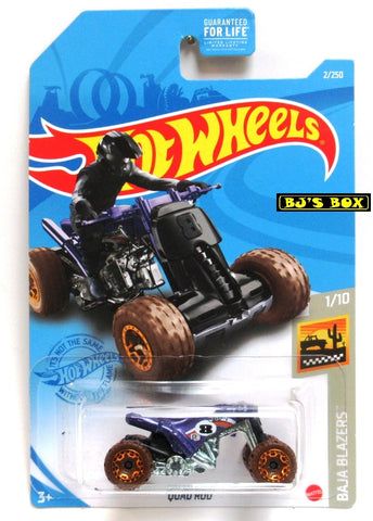 2021 Hot Wheels QUAD ROD #2/250 Purple Off-Road 4x4 ATV #1/10 Baja Blazers New