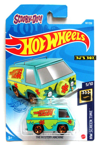 2021 Hot Wheels THE MYSTERY MACHINE #107/250 Scooby Doo Van #5/10 HW Screen Time New