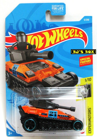 2021 Hot Wheels TANKNATOR #5/250 Orange Tank 1/10 HW Experimotors New
