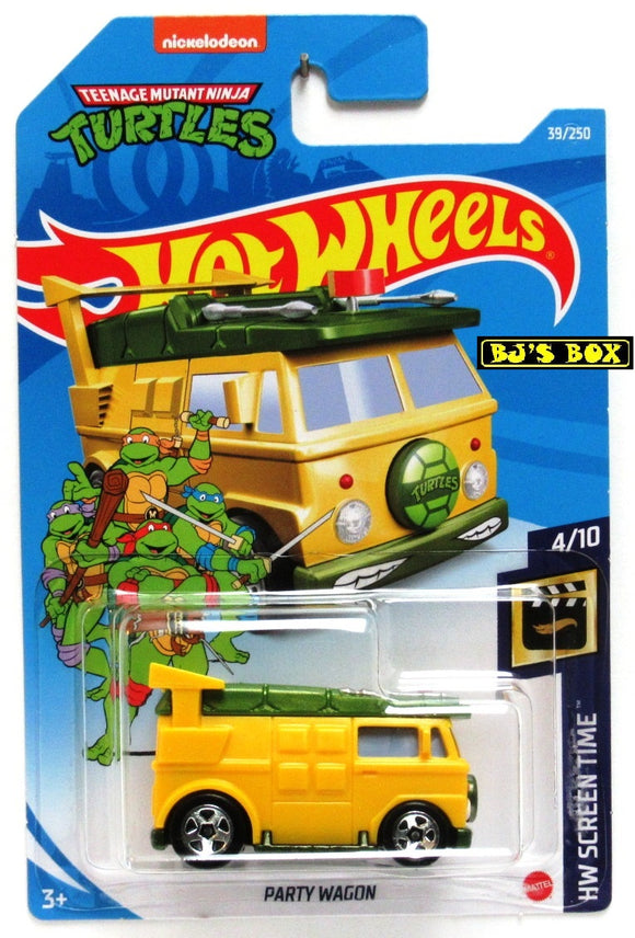 2021 Hot Wheels PARTY WAGON #39/250 Teenage Turtles TMNT 4/10 HW Screen Time New