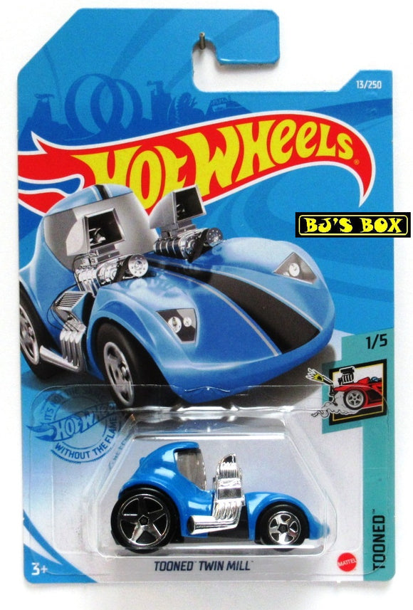 2021 Hot Wheels TOONED TWIN MILL #13/250 Blue Modern Legend #1/5 Tooned New