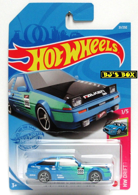 2021 Hot Wheels TOYOTA AE86 SPRINTER TRUENO #31/250 Blue/Green Sports Car 1/5 HW Drift New