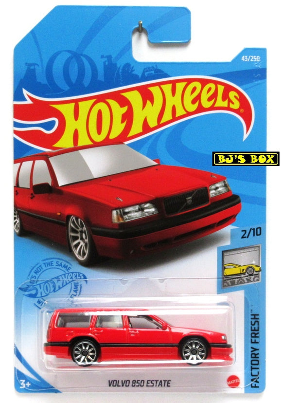 2021 Hot Wheels VOLVO 850 ESTATE #43/250 Red Station Wagon 2/10 HW Factory Fresh New