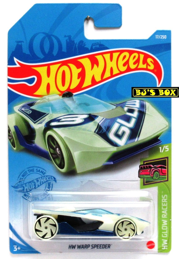2021 Hot Wheels HW WARP SPEEDER #17/250 Glow in the Dark #1/5 HW Glow Racers New